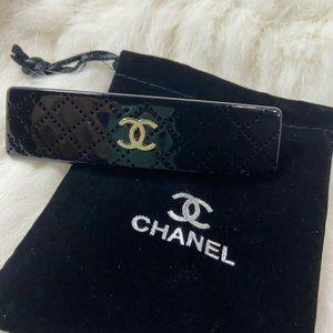 New!!! Chanel black barrette hair clip